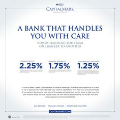 #CapitalMark Bank & Trust Early ad for print and ATMs