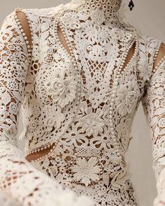 Alexander McQueen. All in Irish lace.