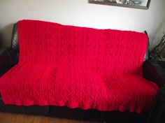 Ready To Ship Beautiful New Hand Knitted Afghan by PhilFee2014