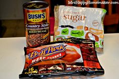 Homemade Beanie Weenies (add BBQ sauce & serve with cornbread muffins)