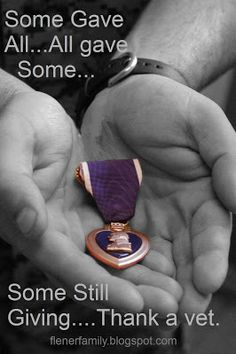 Purple Heart medal - given for bravery - they all deserve one just for their willingness! Purple Heart Day, Purple Hearts, Wounded Warrior, Let Freedom Ring, Support Our Troops, Thing 1, All Things Purple, American Pride, American Freedom