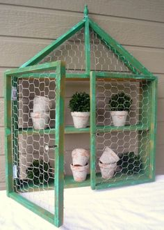 Small Hanging Wire Basket more details here… Make a candle lantern Chicken Wire Wall Shelf more details here… Art by Benedetta Mori Ubaldini source DIY Junky Chicken Wire Cloche source Wire Wall Shelf, Wire Shelving, Wall Shelves, Chicken Wire Cabinets, Chicken Wire Crafts, Hanging Wire Basket, Patio Storage, Herbs Indoors, Plant Shelves