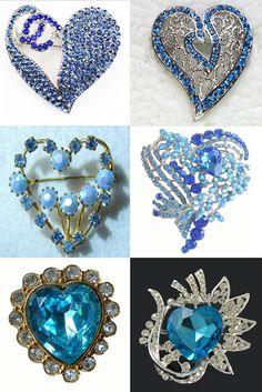 blue rhinestone hearts found on ebay