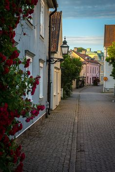 One of streets in the old town of Vadstena. Stockholm, Sweden Cities, Places Around The World, Around The Worlds, Beautiful World, Beautiful Places, Kingdom Of Sweden, Scandinavian Countries, Sweden Travel