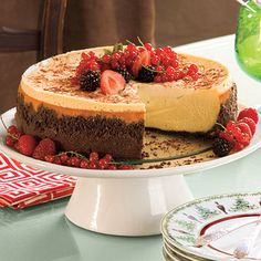 Brandy Alexander Cheesecake - Splurge-Worthy Thanksgiving Dessert Recipes - Southern Living