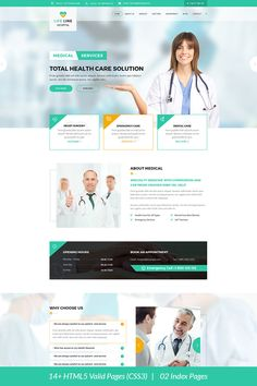 26 ideas medical website templates web design for 2019 Website Design Inspiration, Design Thinking, Hospital Website, Dentist Website, Healthcare Website, Medical Websites, Design Innovation, Medical Specialties, Free Website Templates
