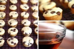 Pancakes the easy way. Make them as mini muffins & dip into syrup.