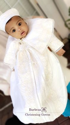 43a040441 Baby Boy Christening Gown Burbvus, with a detachable skit and matching  beret and Shoes #