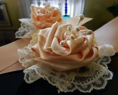 My ecological and shabby wedding accessories by Ecosposi - fabric #wristbands for #bridesmaids    #shabby  www.ecosposi.it