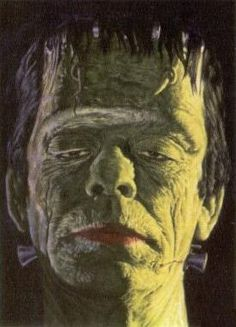 Frankenstein - Portrait Of The Monster By James Bama - Bama was the artist who created the box art for the Aurora monster model kits.