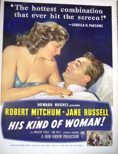 Vintage Movie Ad Starring Jane Russell and  by mamiezvintage, $8.95