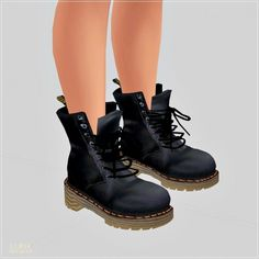 SIMS4 Marigold: Male Combat Boots • Sims 4 Downloads