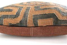 Appliqué Kuba Cloth Pillow No. 2 - The Loaded Trunk