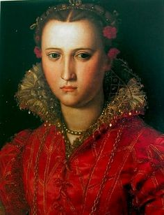 ANNA De' MEDICI (1616-1676) ~ Anna de' Medici was a daughter of Cosimo II de' Medici, Grand Duke of Tuscany and his wife Maria Maddalena of Austria. A patron of the arts, she married Ferdinand Charles, Archduke of Further Austria in 1646.