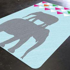Elephant Rug, Elephant Nursery Rug, Elephant Nursery Decor, Rugs for Nursery, Playroom Decor, Bunting Nursery, Kids Room Rugs, Playroom Rug by HawkerPeddler on Etsy https://www.etsy.com/listing/211882065/elephant-rug-elephant-nursery-rug
