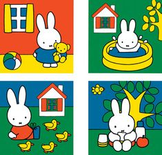 Miffy, Funny Bunnies, Children's Book Illustration, Puzzle Art, Toys For Boys, Design Crafts, Baby Love, Paper Dolls, Character Design
