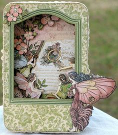 Shadowbox tin made with the fanciful Once Upon a Springtime paper from Graphic 45