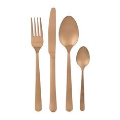 Rose Gold Cutlery Set 4 Piece