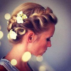 wedding hair: braided bridal updo www.kimguiley.com
