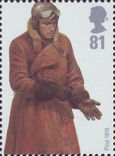 British Stamp 2008 - RAF Uniforms Pilot 1918