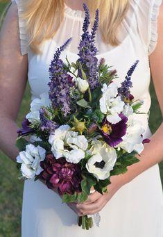 Wildflower Silk Flower Wedding Bouquet by Hollysflowershoppe