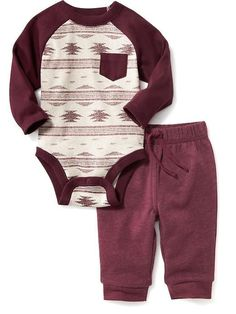 One-Piece Bodysuit and Pants Set for Baby Product Image