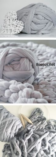 BeCozi is a home for chunky Merino wool blankets, super chunky yarn, DIY Knitting kits, giant needles, knits and much more. Buy a unique gift for everyone! Wool Yarn, Merino Wool Blanket, Chunky Blanket, Fabric Yarn, Arm Knitting, Knit Crochet, Crochet Tools, Crotchet, Yarn Crafts