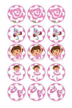 Dora ballerina digital collage sheets 1 Inch by scrapworld2010 on etsy