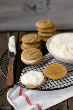 ginger lemon cream sandwich cookies