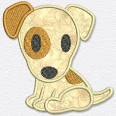 This free embroidery design from Adorable Applique is a dog.  Cute!