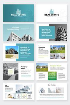 Real Estate PowerPoint Presentation Template - Finans World 2020 Letterhead Design, Brochure Design, Letterhead Business, Company Letterhead, Letterhead Template, Booklet Design, Flyer Template, Real Estate Ads, Commercial Real Estate