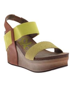 17fc192056e0b5 Take a look at this Lime Bushnell Wedge by OTBT on  zulily today! Shoes
