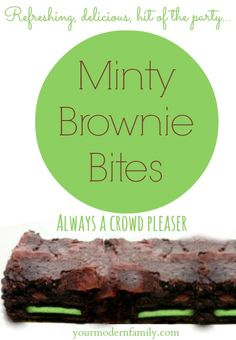 SO GOOD!  Minty Brownie Bites #McCormickbakesale