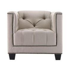 Home Decorators Collection Paris Linen Club Chair-0833700830 at The Home Depot