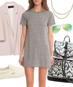 3 Ways to Wear the T-Shirt Dress. #tshirtdress #fashion #style