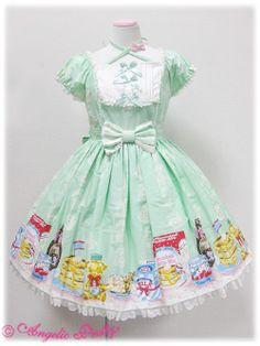 Angelic Pretty » One Piece » Honey Cake OP  http://hellolace.net/wardrobe/angelic-pretty/type/op/item/322/#