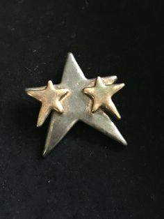 RESERVED FOR BETTY Large Star, Small Stars, Sterling Silver, Pin, Pendant