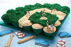 Best baby shower cupcakes for boy sports baseball cookies 63 ideas Baseball Cupcake Cakes, Baseball Cookies, Baseball Treats, Baseball Food, Baseball Theme Birthday, Baseball Party, Sports Baseball, Baseball Field Cake, Mariners Baseball