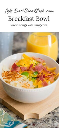 Make mornings special with this easy Breakfast Bowl. Breakfast In A Jar, Breakfast Items, Breakfast Recipes, Breakfast Casserole, Best Slow Cooker, Slow Cooker Recipes, Quick Easy Meals, Food Dishes, Recipe Ideas