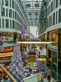 Inside of the Plac Unii City Shopping in Warsaw, Poland