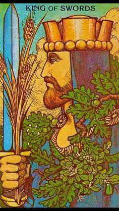 King of Swords Tarot Card- MOrgan Greer Tarot Deck