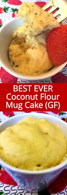 Very good but VERY rich! This gluten-free vanilla mug cake is made with coconut flour and tastes amazing! It is so soft and fluffy, this is my favorite vanilla mug cake ever! That's a healthy breakfast I look forward to! Coconut Flour Mug Cake, Coconut Flour Recipes, Vanilla Recipes, Mug Recipes, Keto Recipes, Cake Recipes, Dessert Recipes, Coconut Milk, Vanilla Desserts