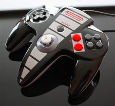 Controle de N64 personalizado de NES