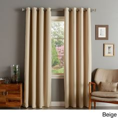 Aurora Home Silver Grommet 90 Blackout Curtain Panel Pair Beige Size