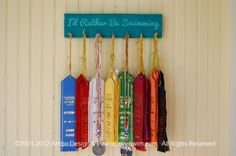 I'd Rather Be Swimming Ribbon Hanging Display  -  Customization & Personalization Available. $21.00, via Etsy.