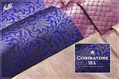 The detailed zari brocade on this blue Coimbatore silk saree makes it an absolute stunner. #Nalli #nallisilks #coimbatore #silk #saree #online #blue #sareegoals #sareeswag #sareelove #heritage #tradition #zariwork
