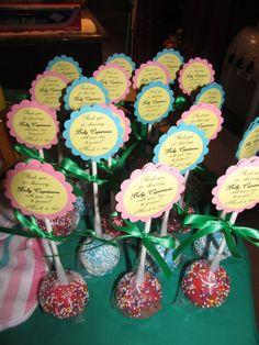 Flower cake pop favors!