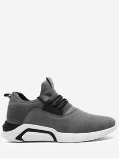 0c30e83c68dc Lace Up Elastic Band Suede Athletic Shoes - GRAY 42 Summer Outfits Men