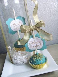 Wedding Cake Pop Favors at NashvilleSweets.com