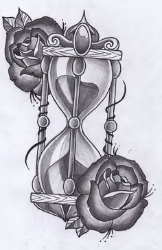 hourglass tattoo on pinterest tattoos and body art clock tattoos and watch tattoos. Black Bedroom Furniture Sets. Home Design Ideas